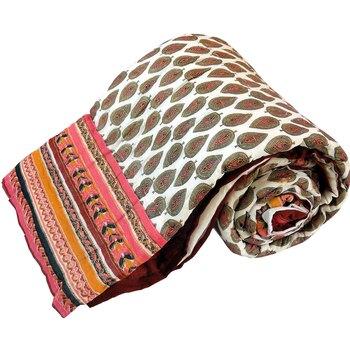 Rajasthani Gold Print Cotton Single Bed