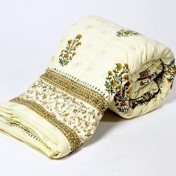 Jaipuri Floral Print Cotton Single Bed320