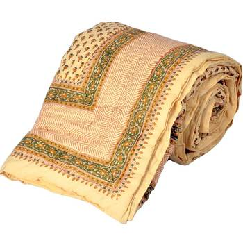 Sanganeri Print Pure Cotton Single Bed Razai