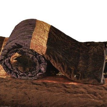 Jaipuri Brasso Floral Single Bed Velvet