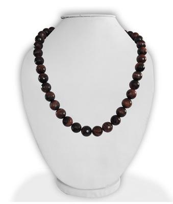 "Red Tiger Eye Gemstone 18"" Bold Necklace"