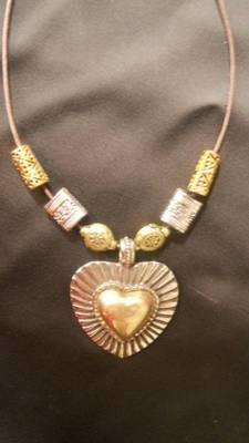 Golden Heart Necklace-Aliff Lailaa-090156