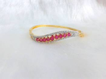 SEDUCTIVE CZ AND RUBY BRACELET MATCH WITH EVERY ATTIRE