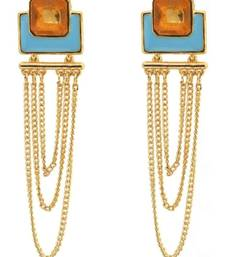Buy crunchy Fashion ColorRush Tangy Multilayer Danglers danglers-drop online