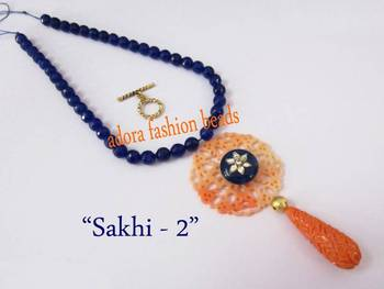 "Semi precious necklace ""sakhi-2"""