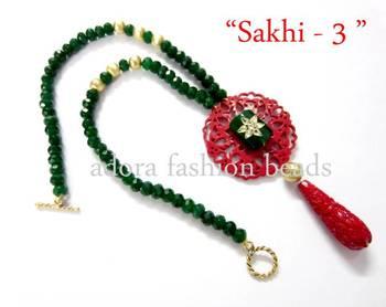 "Semi precious necklace ""sakhi-3"""