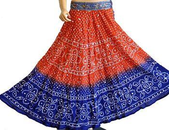 Tie-Dye Bandhani Skirt