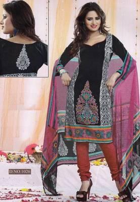 Dress Material Poly Cotton Unstitched Elegant Salwar Kameez Suit D.No B1026