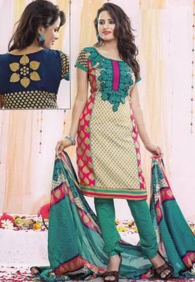 Dress Material Poly Cotton Unstitched Elegant Salwar Kameez Suit D.No B1027