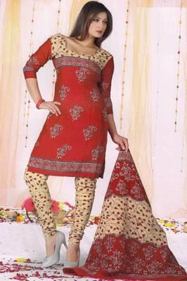 Dress Material Poly Cotton Unstitched Elegant Salwar Kameez Suit D.No B1039