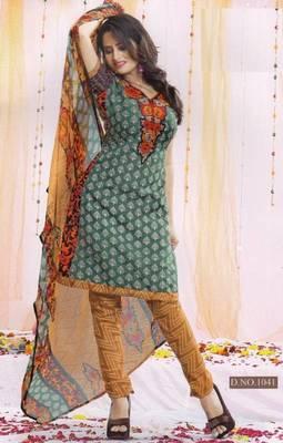 Dress Material Poly Cotton Unstitched Elegant Salwar Kameez Suit D.No B1041