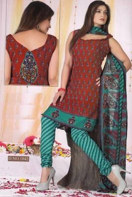 Dress Material Poly Cotton Unstitched Elegant Salwar Kameez Suit D.No B1042