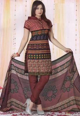 Dress Material Poly Cotton Unstitched Elegant Salwar Kameez Suit D.No B1043