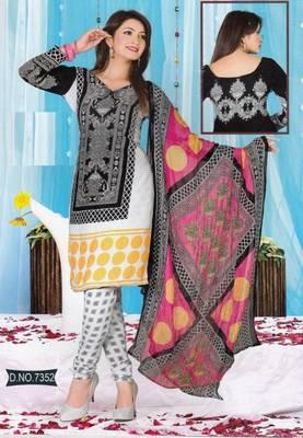 Dress Material Crepe Unstitched Elegant Salwar Kameez Suit D.No 7352