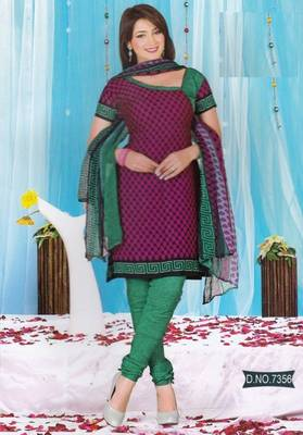 Dress Material Crepe Unstitched Elegant Salwar Kameez Suit D.No 7356