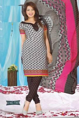 Dress Material Crepe Unstitched Elegant Salwar Kameez Suit D.No 7357