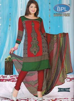 Dress Material Crepe Unstitched Elegant Salwar Kameez Suit D.No 7364