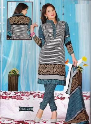 Dress Material Crepe Unstitched Elegant Salwar Kameez Suit D.No 7368