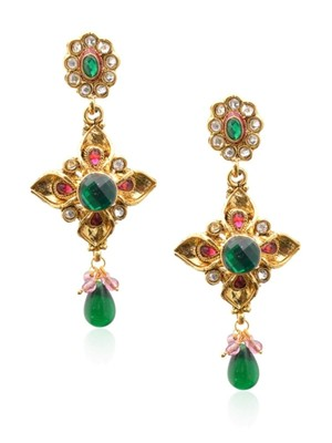 Royal Bling Fanciable Emerald Stone Earring-RAE0012