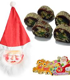 Buy Christmas Santa Mask n 200gm Anjeer Cutlet Sweet 123 christmas-gift online