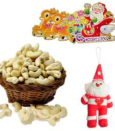 Santa Claus Toy n 200gm Cashew Nuts Christmas Gift 125