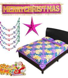 Buy Send Double Bedsheet Christmas Hanging with Stars 132 christmas-gift online