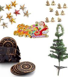 Buy Elephant Design Tea Coasters n Christmas Tree Gift 146 christmas-decoration online