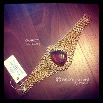Chariot- Red leaf Bracelet