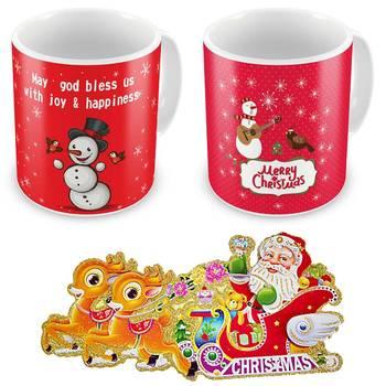 Buy Snowman Printed Cute Coffee Mugs Pair Online