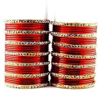 metel suhag chura red colour size-2.4,2.6,2.8,2.10