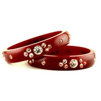 acrylic 16cut maroon colour bangle