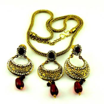 micro platted necklace with earing