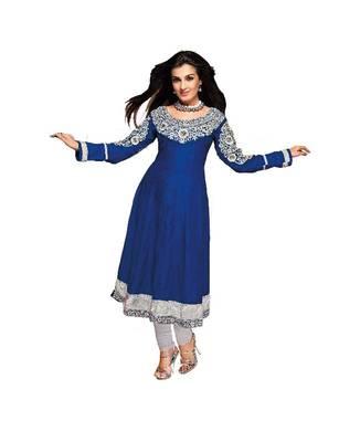 ISHIN Cotton Blue kurti shinny_L