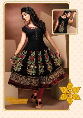 ISHIN Cotton Black kurti kisha_M
