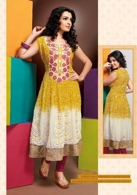 ISHIN Cotton Yellow kurti Dani_L