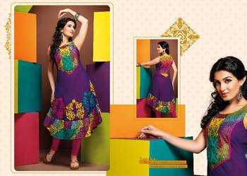 ISHIN Cotton Purple kurti Sonika_XL