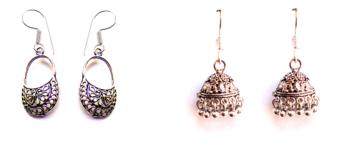 Designer Germal Silver Jhumki's
