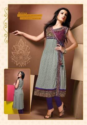 ISHIN Cotton Multicolor kurti Anisa_XL