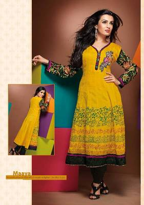 ISHIN Cotton Yellow kurti Maaya_L