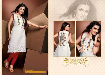 ISHIN Cotton White kurti Shanaya_L