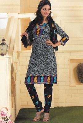 Cotton dress material elegant designer unstitched salwar suit d.no 1402