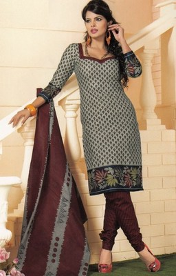 Cotton dress material elegant designer unstitched salwar suit d.no 1404