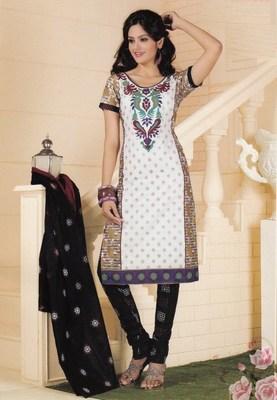 Cotton dress material elegant designer unstitched salwar suit d.no 1407