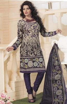 Cotton dress material elegant designer unstitched salwar suit d.no 1408