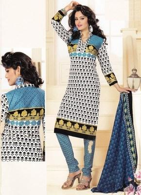 Cotton dress material elegant designer unstitched salwar suit d.no 1415