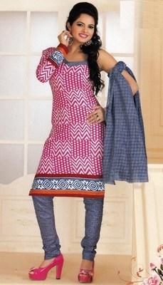 Cotton dress material elegant designer unstitched salwar suit d.no 1427