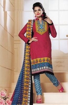 Cotton dress material elegant designer unstitched salwar suit d.no 1428