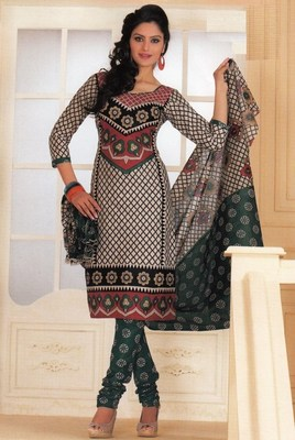 Cotton dress material elegant designer unstitched salwar suit d.no 1431