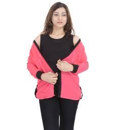 Peach Chiffon Women Shirt with Black Inner