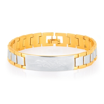 Youthful Gold and Rhodium Plated Bracelet For Men